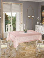 Скатерть Tropik home Priencly Pink 5698-7 150x220 см
