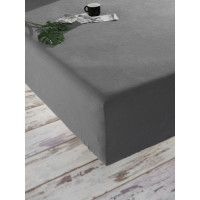Простынь на резинке SoundSleep Stonewash Adriatic dark gray ранфорс 180х200 + 30 см