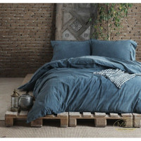 Постельное белье SoundSleep Denim dark blue евро