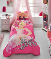 Покрывало TAC Disney Barbie Ballerina 160x220 см с наволочкой