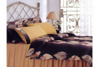Постельное белье Tivolyo Home Drop brown евро