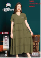 Туника Cocoon  20569 dark green