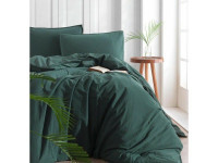 Постельное белье SoundSleep Stonewash Adriatic dark green евро