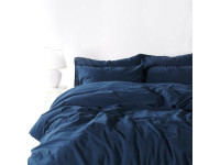 Постельное белье SoundSleep Stonewash Adriatic dark blue синий евро